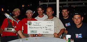 Crew with 2007 Block Island Award check.